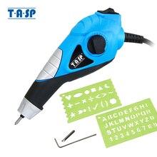 TASP 220 V grabador eléctrico pluma de grabado de Metal puntas de acero de carburo para acero madera plástico vidrio Hobby herramientas eléctricas  MEGV13