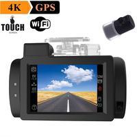 G200 170 Degree Lens 1080P Full HD NTK96660 WiFi 4K Car DVR Dash Camera Recorder Motion Detection GPS Car DashCam