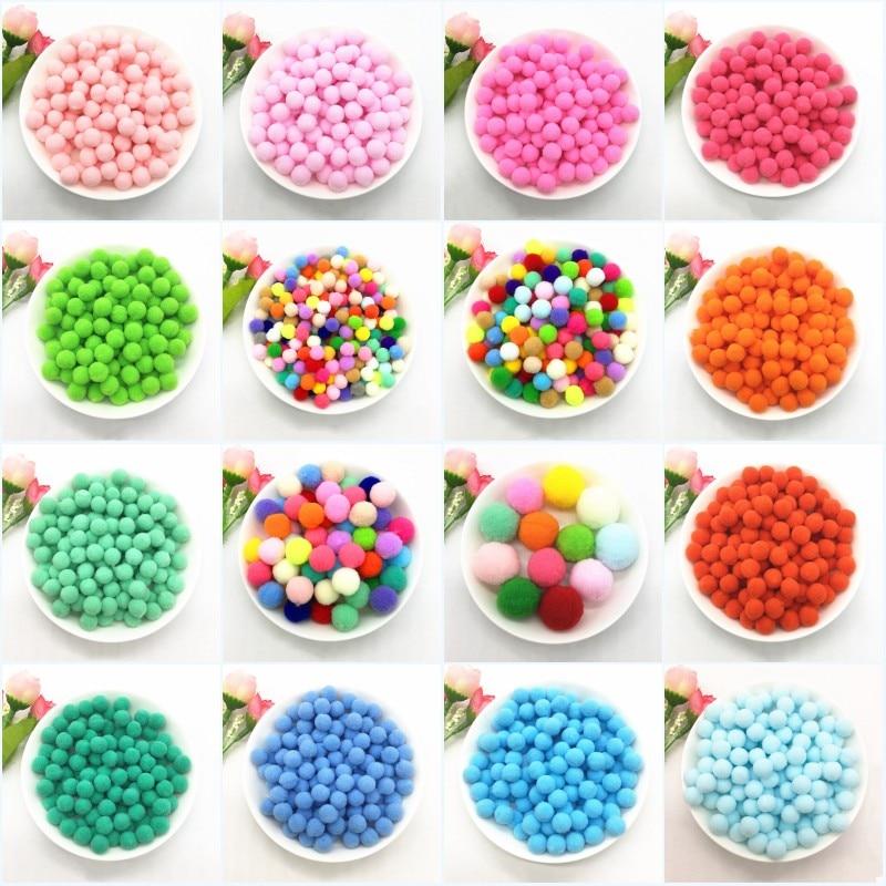 Boule de Pom Poms moelleux 8mm 10mm 15mm 20mm 25mm 30mm | Pompones souples, artisanat en peluche, bricolage, fournitures de couture pour décor maison, 10g