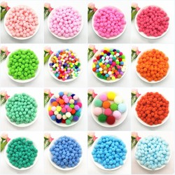 Pompoms macio de pelúcia diy, 8mm 10mm 15mm 20mm 25mm 30mm, artesanato fofo bolas de poms ball fúbola casa decoração suprimentos de costura 10g