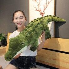 New Simulation Crocodile Plush Toy Animal Stuffed Toys Childrens Gift Sofa Pillow Cushion Home Decoration