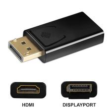 Display Port DP Male to HDMI Female Converter Adapter Video Audio connector Fit for MacBook Pro Air d25 Computer Cable Adapter ugreen 1080 4k 2k displayport dp male to hdmi female cable adapter display port converter for projector hp dell laptop