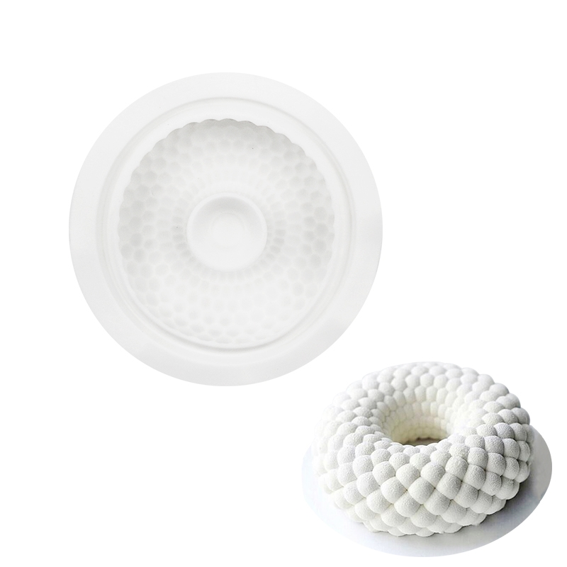 Silicone Cake Mold Wave Circle Shape Decorating Mold For Baking Bread Desserts Mousses Bakeware Accessories