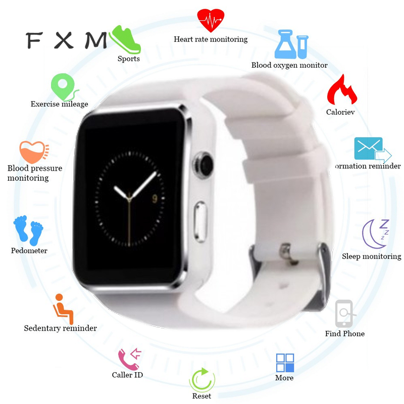The Men's Watches New Arrival X6 Smart Watch Men With Camera Touch Screen Support SIM TF Card Bluetooth Digital Male Watch Sport