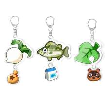 Animal Crossing Keychains Loveliness Animal Toy Acrylic Pendant Key Chains Double-sided Animal Forest Friends Association фото