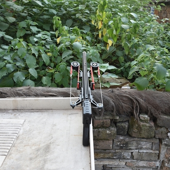Classic Version Wolf King Powerful Slingshot Rifle Semi-Automatic 40BB Enhanced Edition Slingshot Rifle Sling Bow Traction 6