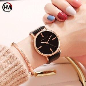 Image 3 - Japan imported movement Genuine Leather New simple design watch women fashion Luxury Brand quartz clock Ladies wrist watches