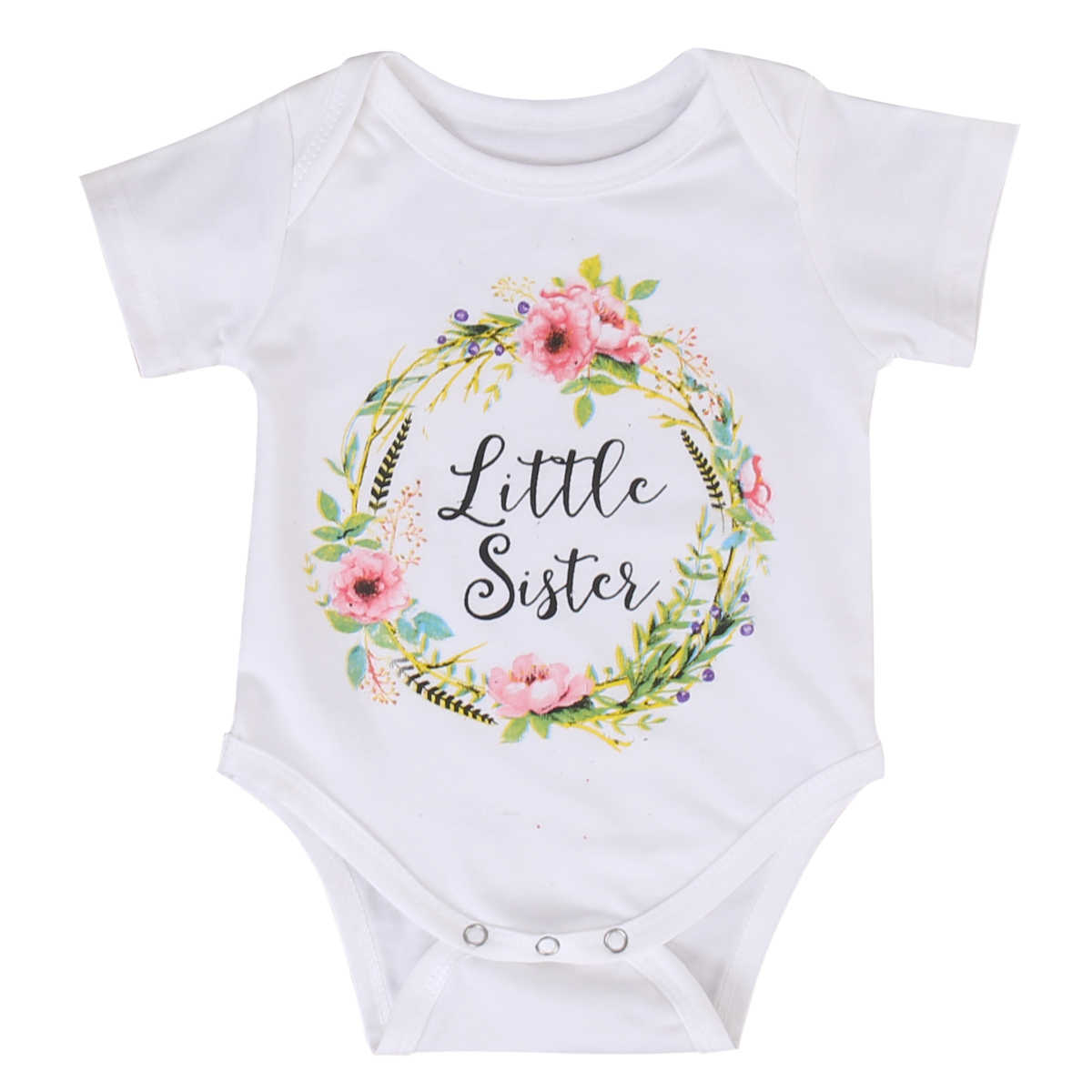 Family Matching Clothes Children Kids Daughter Baby Girls Little Big Sister Match Jumpsuit Romper and T Shirt  Family Outfits