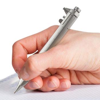 10 sztuk 0-100mm noniusz suwmiarka wielofunkcyjny linijka krawiecka długopis narzędzie pomiarowe Marker pomiarowe narzędzia pomiarowe tanie i dobre opinie BURKSKY Woodworking Połączenie CN (pochodzenie) VC-Pen ZESTAW POMIAROWY 14 8cm Black refill Blue refill Ballpoint Pen Vernier caliper