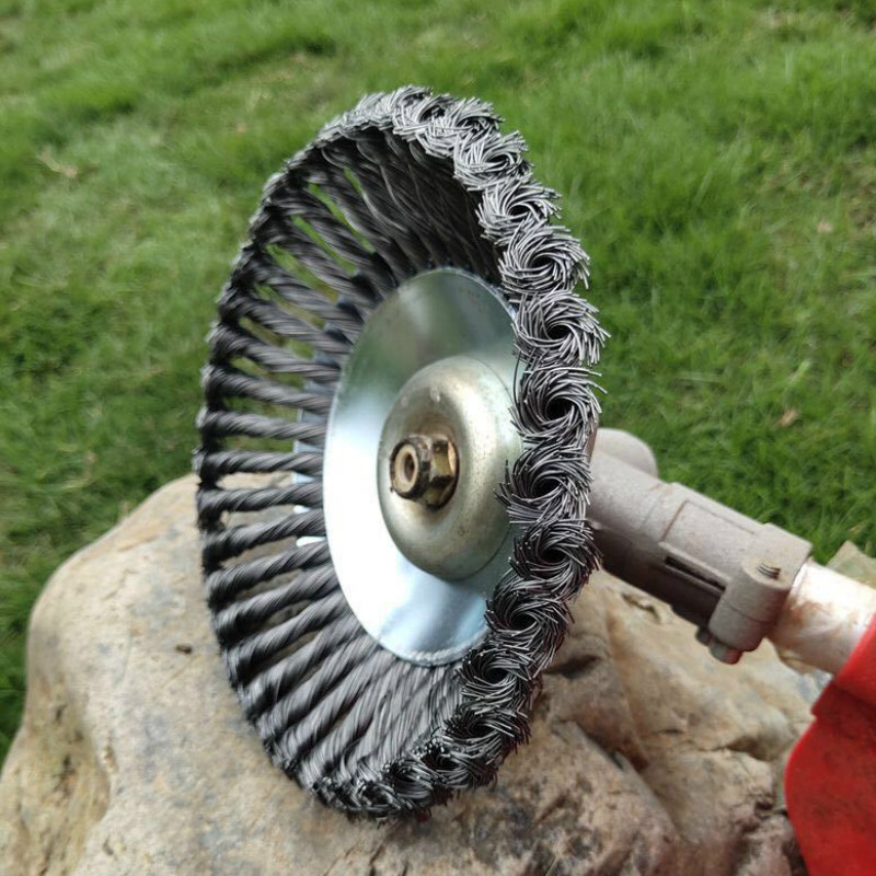 Cortadora de alambre de acero de 150mm/200mm, placa de eliminación de polvo para cortacésped