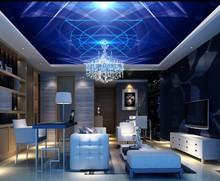 Blue dreamy dynamic line fashion KTV ceiling mural 3d murals wallpaper