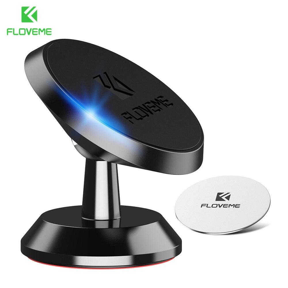 FLOVEME Universal Magnetic Car Phone Holder For Phone In Car Rotate Stand Soporte Movil Auto Holder Telefon Tutucu Accessories