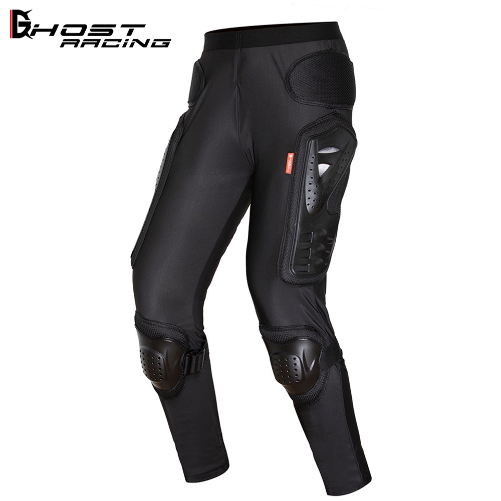 GHOST RACING Motorcycle Armor Pants Riding Motorbike Trousers Motocross Moto Off Road Racing Sports Knee Protective Gear