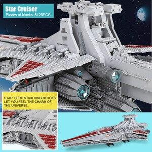 Image 5 - Lepining 05077 MOC Stern Set Wars Die UCS ST04 Republik Cruiser Stern Destroyer Spielzeug Bausteine Ziegel Kinder Geschenke