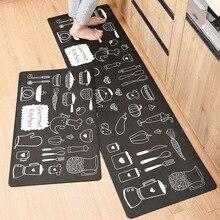 Anti Slip Küche Matte Langes Bad Teppich Moderne Cartoon Eingang Flur Fußmatte Tapete öl proof Schlafzimmer Wohnzimmer boden Matten