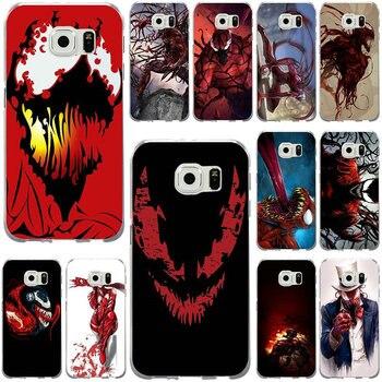 Casos de teléfono Slim TPU para Samsung Galaxy nota 2 3 5 8 9 S2 S3 S5 Mini S6 S7 S8 s9 S10 Edge Plus Lite Fundas rojo veneno carnicería
