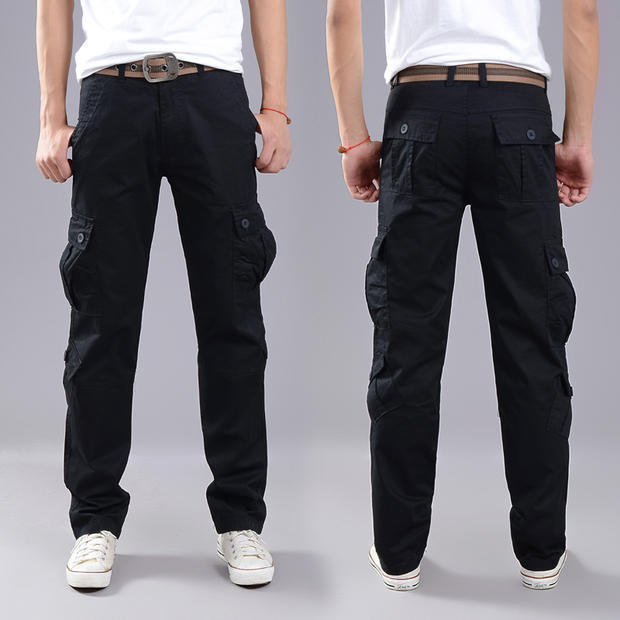 2020 Men Pants New Casual Cool Men Pants Cotton Slim Pant Fashion Business Solid Black Pants