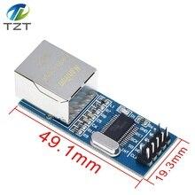 10 ชิ้น/ล็อตMini ENC28J60 โมดูลLAN Ethernetบอร์ดเครือข่าย 25MHZ Crystal AVR 51 LPC 3.3V +