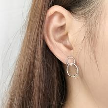 Amaiyllis 925 Sterling Silver Minimalist Circle Earrings Color Geometric Design Jewellry For Women Gift