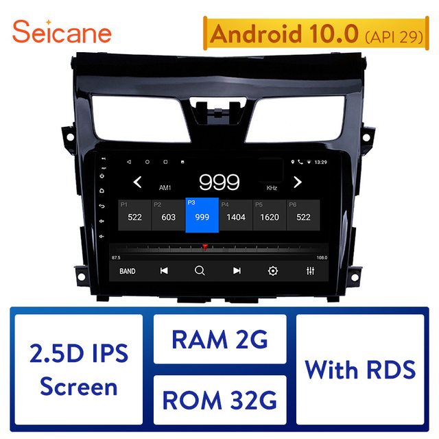 $ US $79.92 Seicane Android 10.0 9 Inch Car Radio For 2013 2014-2017  Nissan TEANA 2Din Wifi GPS Multimedia Player Support Bluetooth 8-Core