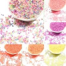 500/1000Pcs 2 3MM Candy Creme Farbe Tschechische Glas Sand DIY Perlen Runde Loch Perlen Für Kinder handgemachte Schmuck Machen Fit