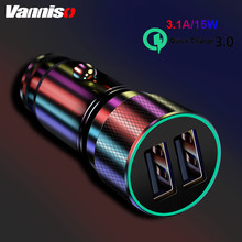 Vanniso 15W Quick Charge 3.0 USB Car Charger For Xiaomi Huawei Samsung QC3.0 Charging 5V 3.1A Phone SCP Universal
