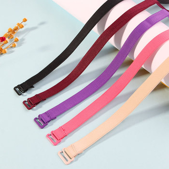 цена на Candy Elastic Shoulder Bra Strap Back Cross Slip-Resistant Adjustable Girl Bra Straps Summer Style Colorful Bra Strap