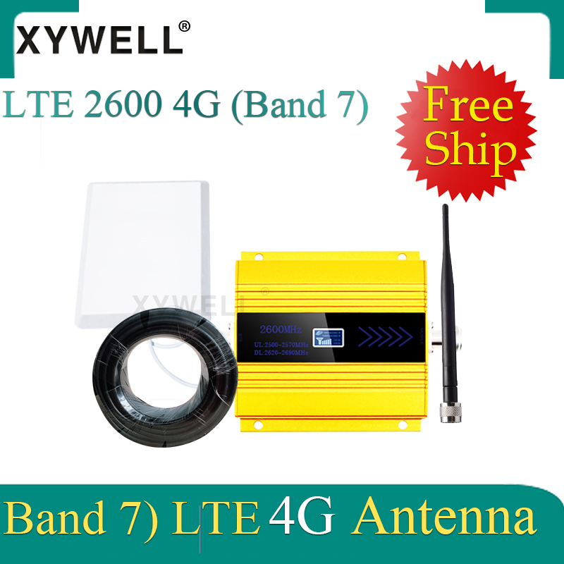 New!! 2600Mhz 4G Signal Booster FDD LTE 2600mhz Band 7 CellPhone GSM Signal Booster 4G LTE 2600 Network Cellular Signal Repeater