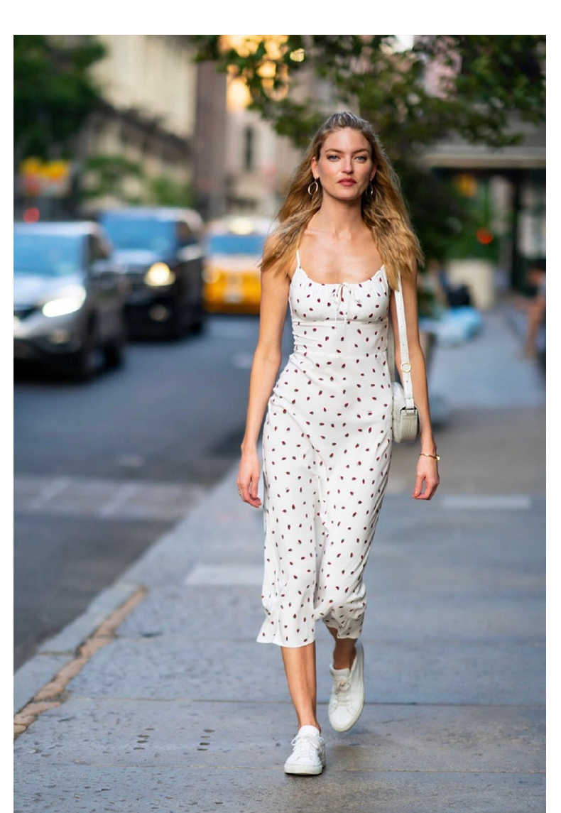 Vanilla Bay Floral Long Maxi Print Spaghetti Strap Elastic Waist Medium Dress