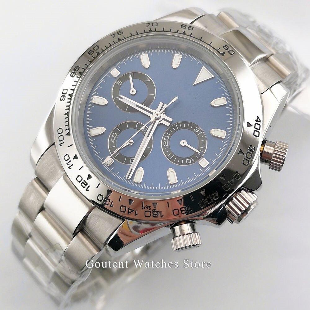 Hot Selling Mens Watch 39mm Bliger Watch Blue Dial Sapphire Glass Ceramic Bezel Date Week Indicator Automatic Men Watch