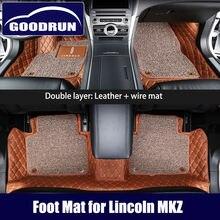 Автомобильные коврики для lincoln mkz универсальные кожаные