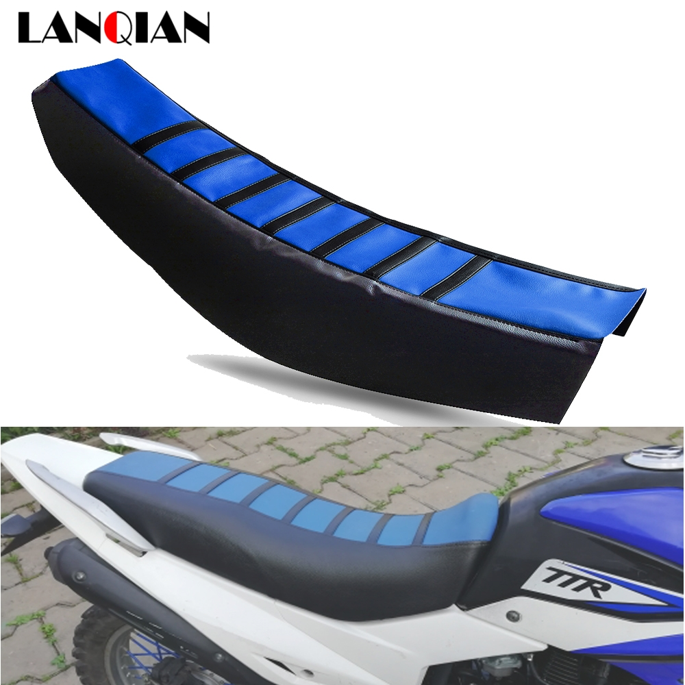 Motorcycle Seat Cover Soft Gripper Striped Rubber For Yamaha YZ85 YZ 85 2002-2017 Dirt Bike