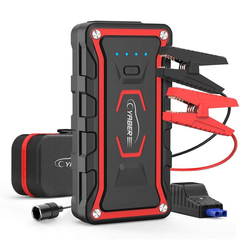 Yaber 20000 мАч пусковой стартер аварийный пусковой стартер аккумулятор Power Bank Авто бустер пиковый Ампер 1600A для всех газовых и 7L дизельных