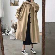 2020 New Elegant Women Fashion Long Trench Coat Female Solid