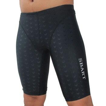 Shark Skin Swimming Trunks Plus-sized Fashion Sexy Men's Spa Low Waist Boxer Short Men's Swimming Trunks