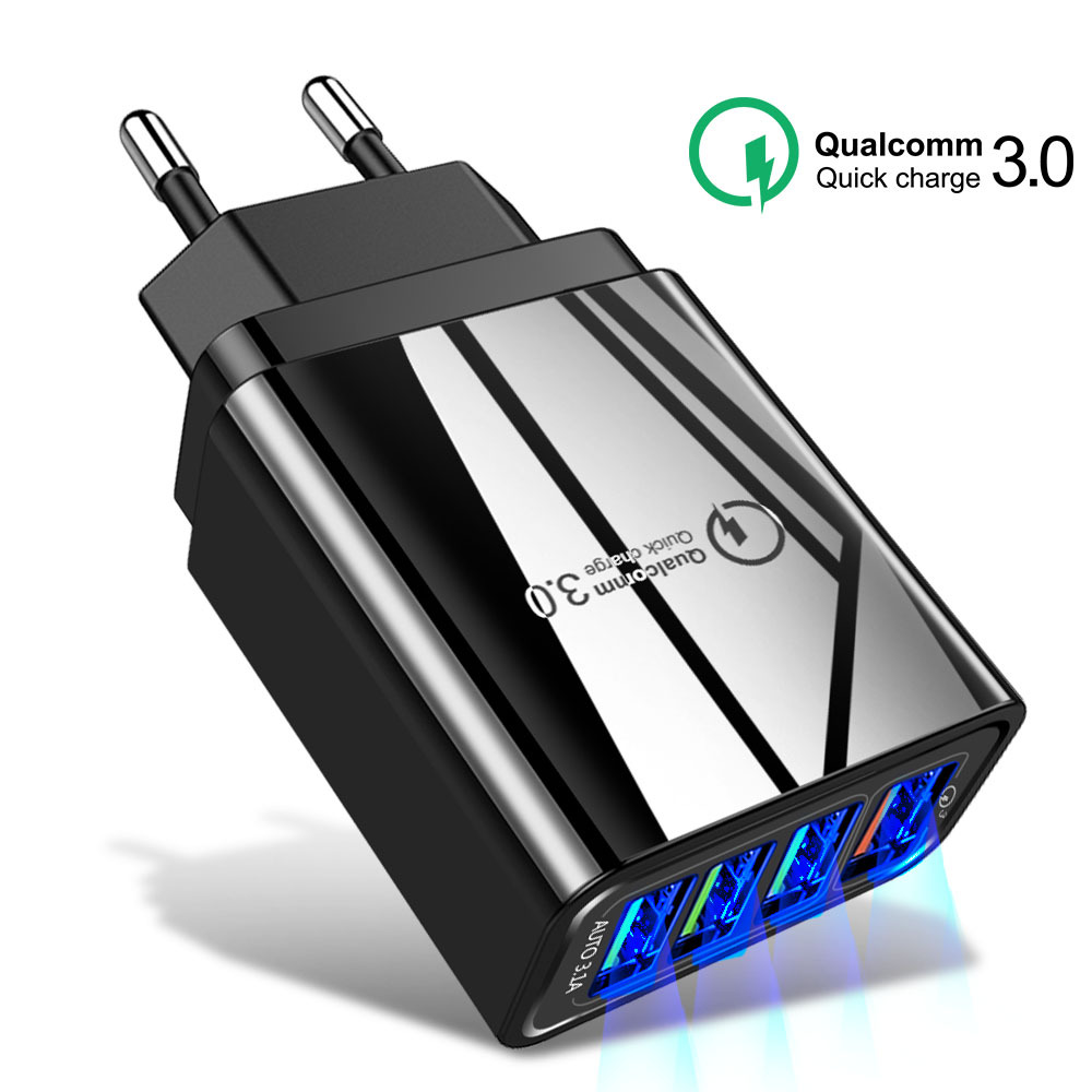 Olaf 48W US EU UK Quick Charger 3.0 USB Charger for iPhone Samsung Xiaomi Tablet QC 3.0 Fast Wall Mobile Charger Plug Adapte
