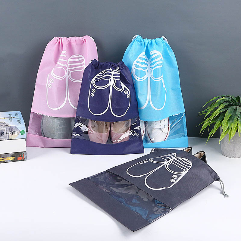 10pieces Shoe Storage Bag Travel Essential Bundle Pockets Thicken Non-Woven Fabric Storage Bag Dust-Proof Waterproof Travel Bag