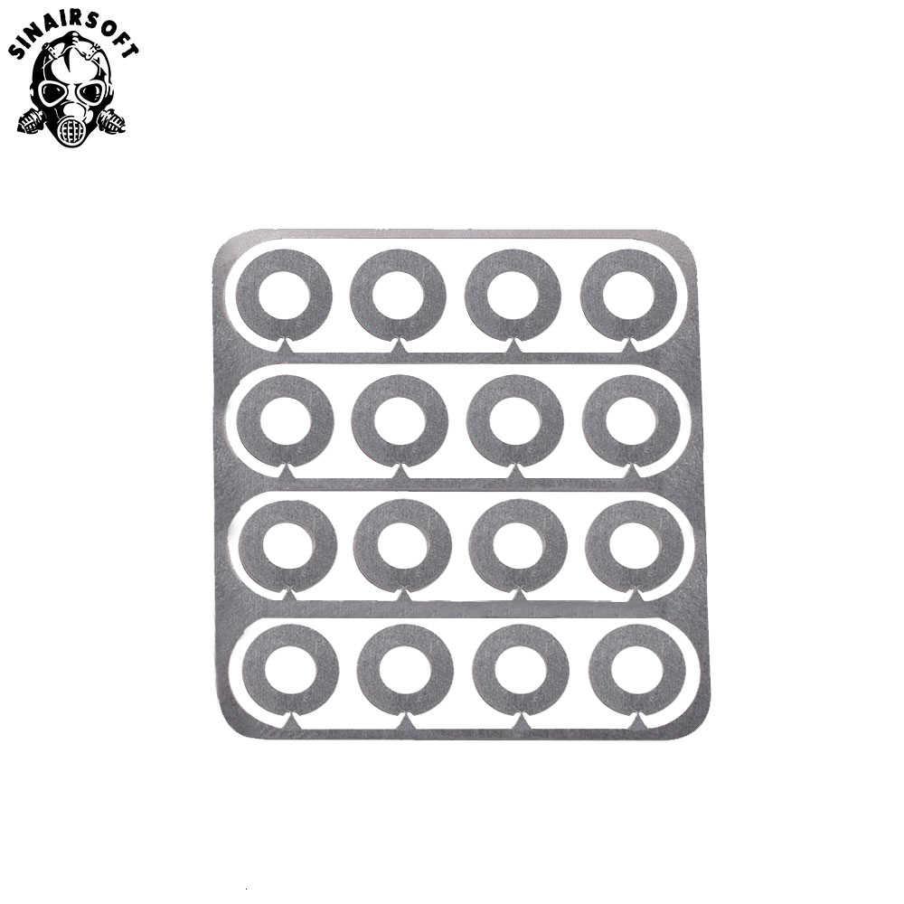 Hot Rvs Super Precisie Shims 48 Pcs Fit Versnellingsbak Gear Set Klaring Aanpassing Voor Aeg Airsoft Paintball Accessoires