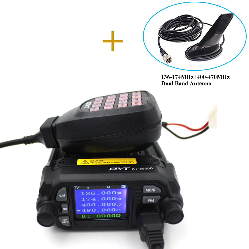 QYT Upgraded Of KT-8900R Mini Walkie Talkie KT-8900D Colorful Quad Display 25W Dual Band UHF/VHF Car Mobile Radio KT 8900D