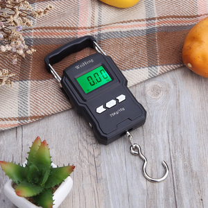75Kg/10g Electronic Weighing Scale 50Kg/5g LCD Digital Display Hanging Hook Scale with Measuring Tape for Fishing Travel