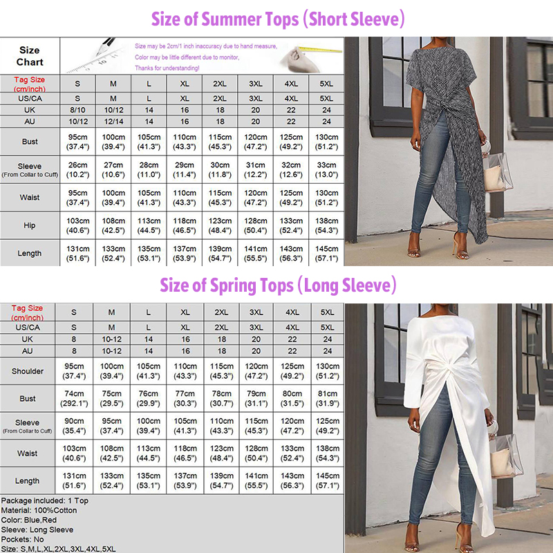VONDA Women Asymmetrical Blouse Sexy Split Hem Striped Party Tops Long Ladies Office Shirts 2020 Summer Tunic Plus Size Blusas