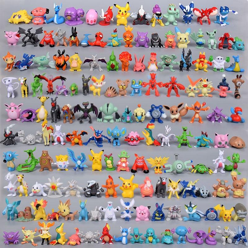Tomy 144 разных стилей 24 шт./пакет горячей игрушки Аниме pokemones Фигурки игрушки игрушечные фигурки из мультфильма 2,5-3 см, так как подарок на Новый