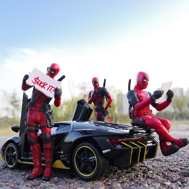 Автомобильное украшение интерьера Марвел, персональная аниме дэдпул, экшн мини-кукла для автомобильных товаров, аксессуары для интерьера автомобиля, украшение 5