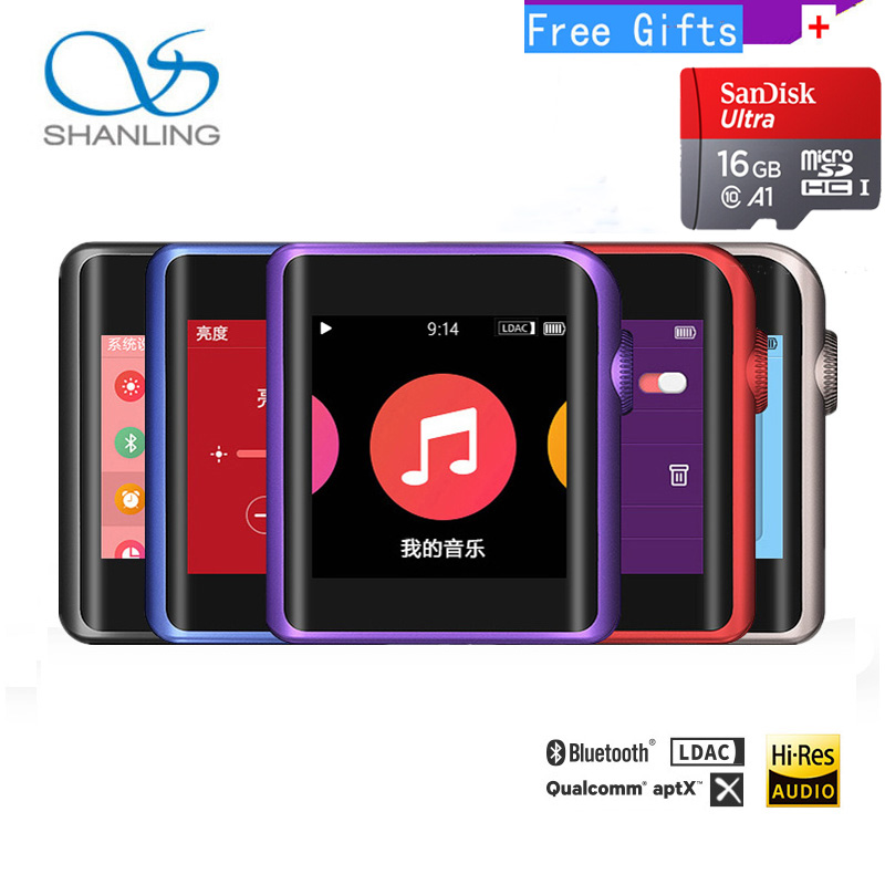 SHANLING M0 mini mp3 player ES9218P 32bit /384kHz Bluetooth AptX LDAC DSD MP3 FALC Portable Music Hi-Res Audio Player