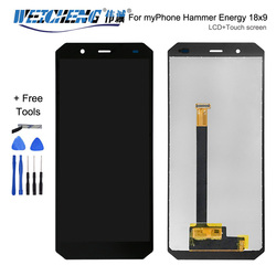 Czarny dla myPhone Hammer Energy 18x9 wyświetlacz LCD + zespół ekranu dotykowego wysokiej jakości Digitizer wymienny szklany panel + narzędzia