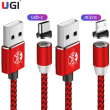 цена на UGI Magnetic LED Charging Cable Fast Magnetic Charger Adapter For Micro USB Charging Cable