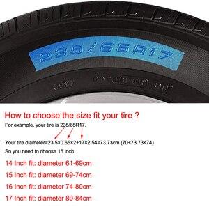 Image 3 - Чехол для колеса из тяжелой ПВХ кожи, 14, 15, 16, 17 дюймов, защитный чехол для Mitsubishi Pajero