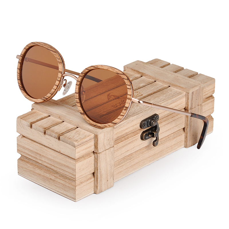 BOBO BIRD Wholesale Zebra Wooden Bamboo Polaroid Sunglasses Polaroid Sun Glasses Ladies Eyewear gafas de sol mujer in Wood box in Men 39 s Sunglasses from Apparel Accessories