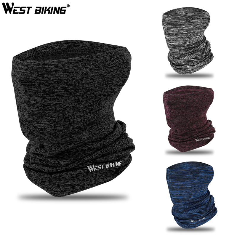 WEST BIKING Winter Cycling Headwear Fleece Neck Warmer Bandana Caps Running Mask Bicycle Bandana Sports Scarf Face Mask Headband