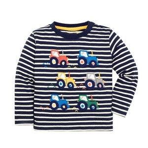 Skoki metrów wiosna jesień chłopcy t-shirty z samochodami moda gorące dzieci z długim rękawem dla dzieci dziewcząt sukienki